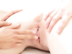 Horny lesbian girlfriends are pleasantly fingering cunts