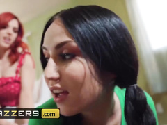 Wonderful brunette teen Jade Baker got licked and fingered by redhead Molly Stewart